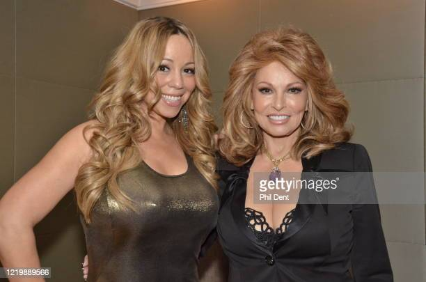 Mariah Carey and Raquel Welch at an event London 2012