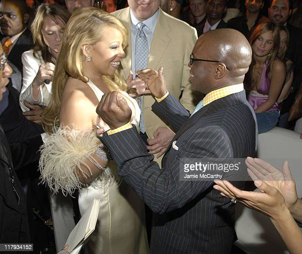 "Mariah Carey and LA Reid during Mariah Carey Celebrates the Release of Her Album ""The Emancipation of Mimi"" and its Debut at at Cipriani in New York..."