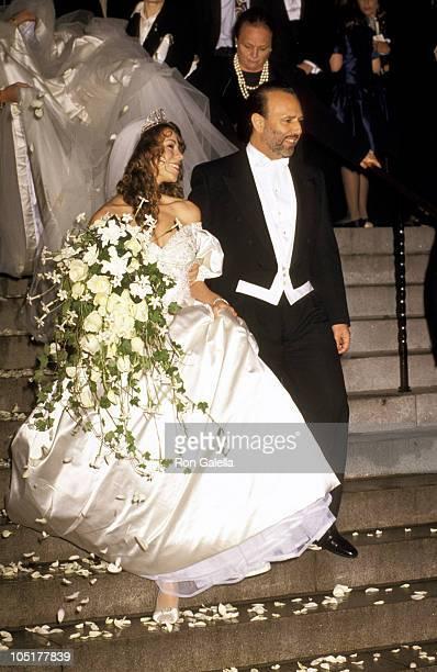 Mariah Carey and Tommy Mottola during Wedding of Mariah Carey and Tommy Mottola at St Thomas Episcopal Church/Metropolitan Club in New York City NY...