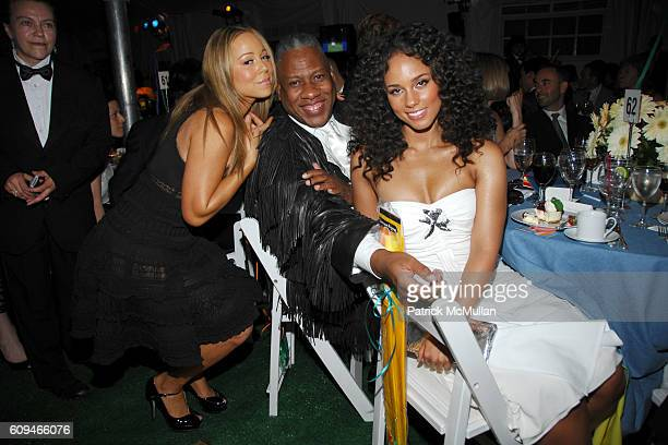 Mariah Carey Andre Leon Talley and Alicia Keys attend THE FRESH AIR FUND 'Salute to American Heroes' Spring Benefit at Tavern on the Green on June 7...