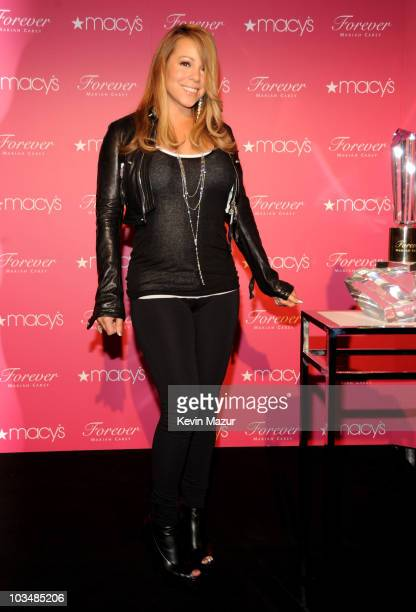 Mariah Carey appears to promote her new fragrance Forever at Macy's Herald Square on September 29 2009 in New York City