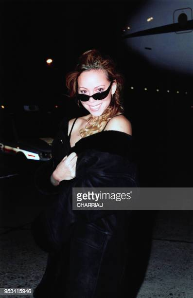 Mariah Carey arrive au Bourget le 10 novembre 1999 pour la sortie de son nouvel album France