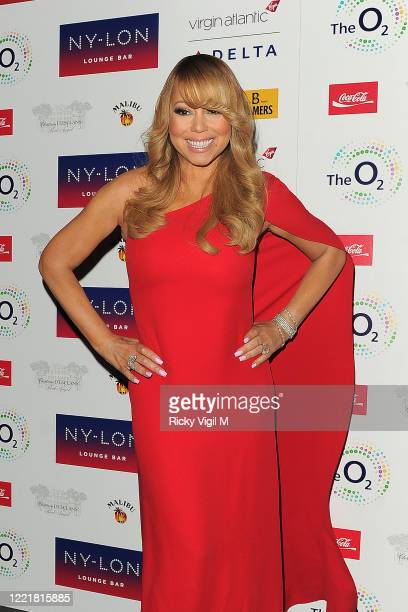 Mariah Carey arrives at her after party at NYLON lounge bar inside the O2 after her gig on March 23 2016 in London England