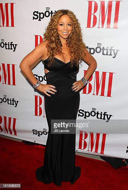 Mariah Carey arrives at the 12th Annual BMI Urban Awards held at Saban Theatre on September 7 2012 in Beverly Hills California