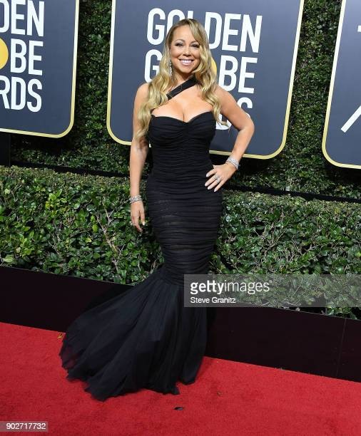 Mariah Carey arrives at the 75th Annual Golden Globe Awards at The Beverly Hilton Hotel on January 7 2018 in Beverly Hills California