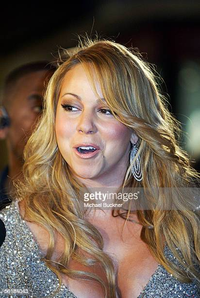 Mariah Carey arrives at the record release and signing of The Emancipation of Mimi Ultra Platinum Edition at the Virgin Megastore on November 15 2005...