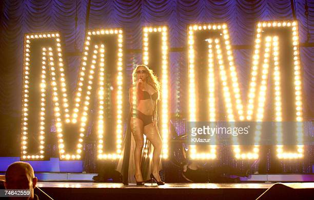 Mariah Carey at the Madison Square Garden in New York City New York