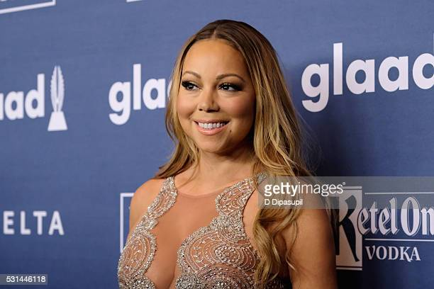 Mariah Carey attends at The 27th Annual GLAAD Media Awards with Hilton at Waldorf Astoria Hotel on May 14 2016 in New York City