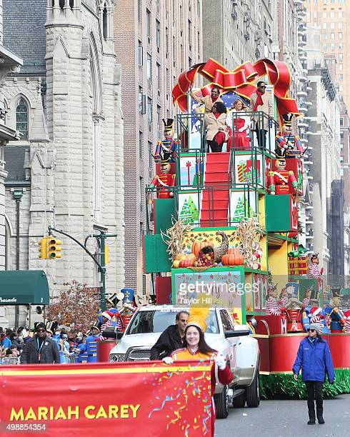 Mariah Carey attends the 2015 Macy's Thanksgiving Day Parade on Central Park West on November 26 2015 in New York City