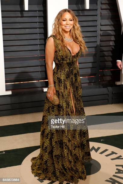 Mariah Carey attends the 2017 Vanity Fair Oscar Party at Wallis Annenberg Center for the Performing Arts on February 26 2017 in Beverly Hills...
