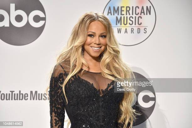Mariah Carey attends the 2018 American Music Awards Press Room at Microsoft Theater on October 9 2018 in Los Angeles California