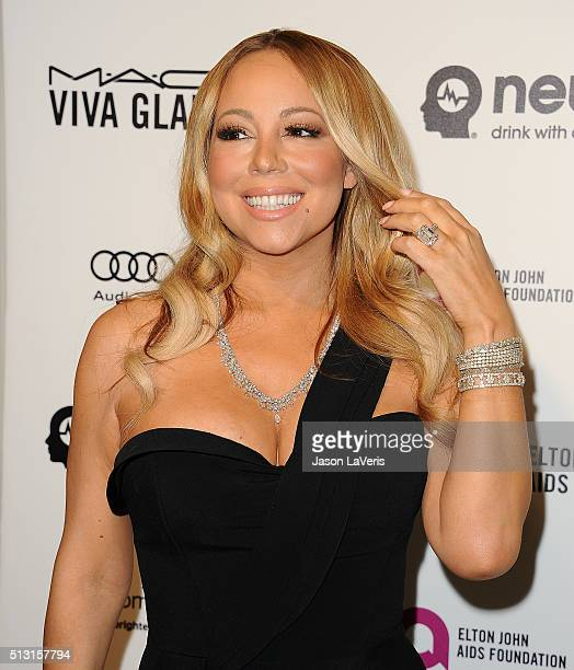 Mariah Carey attends the 24th annual Elton John AIDS Foundation's Oscar viewing party on February 28 2016 in West Hollywood California
