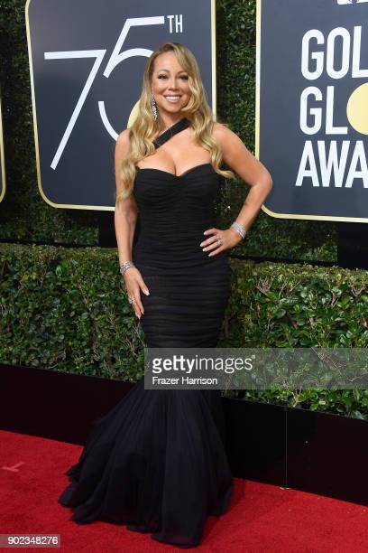 Mariah Carey attends The 75th Annual Golden Globe Awards at The Beverly Hilton Hotel on January 7 2018 in Beverly Hills California