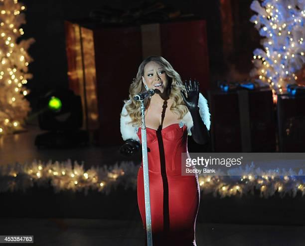 Mariah Carey attends the 81st Annual Rockefeller Center Christmas Tree Lighting PreTape at Rockefeller Center on December 3 2013 in New York City