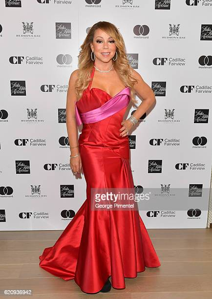 Mariah Carey attends The Hudson's Bay And Saks Fifth Avenue Holiday Window Unveiling Presented By MasterCard at Hudson's Bay on November 3 2016 in...