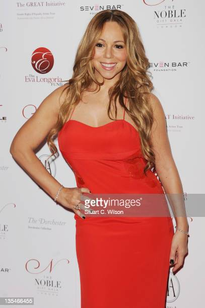Mariah Carey attends the Noble Gift Gala at The Dorchester on December 10 2011 in London England