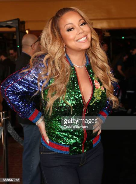 Mariah Carey attends the premiere Of Warner Bros Pictures' The LEGO Batman Movie at Regency Village Theatre on February 4 2017 in Westwood California