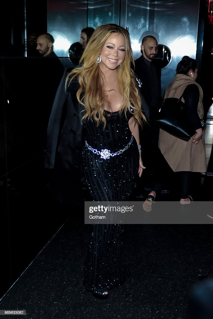 Mariah Carey attends V Magazine honors Karl Lagerfeld event at The Top of The Standard on October 23, 2017 in New York City.