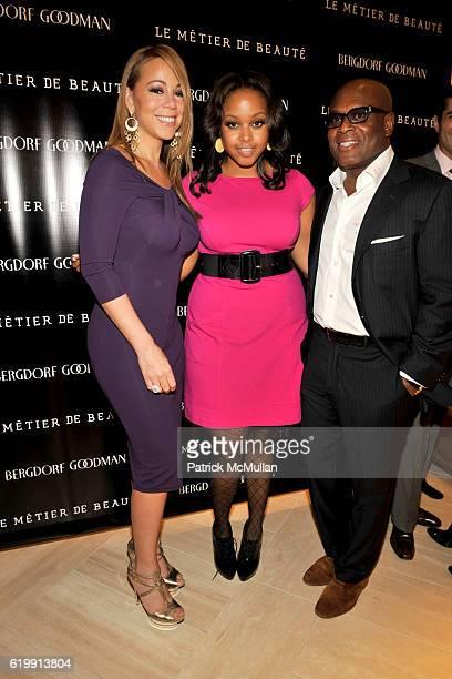Mariah Carey Chrisette Michele and Antonio LA Reid attend LA REID Hosts LE METIER DE BEAUTE Event at Bergdorf Goodman at Bergdorf Goodman on October...