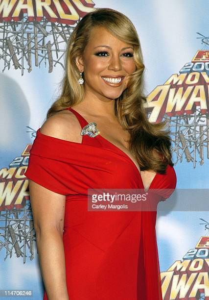 Mariah Carey during 2005 MTV Movie Awards - Press Room at Shrine Auditorium in Los Angeles, California, United States.