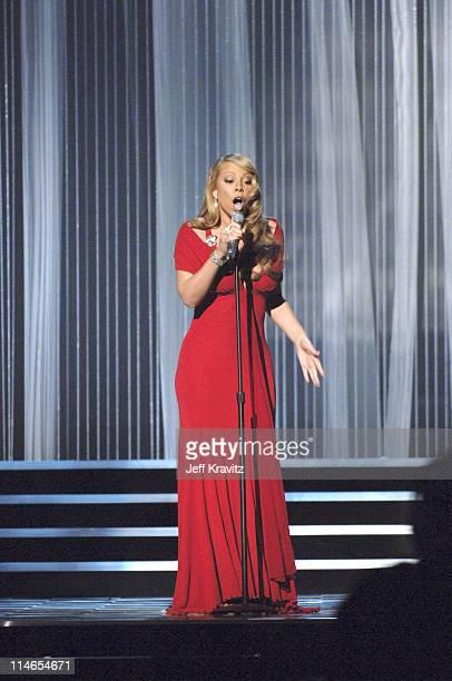 Mariah Carey during 2005 MTV Movie Awards Show at Shrine Auditorium in Los Angeles California United States