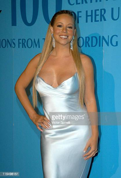 Mariah Carey during Blue Diamond Affair Celebrating Mariah Carey and Her New Album Charmbracelet at Les Deux Cafe in Hollywood California United...