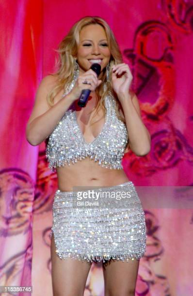 Mariah Carey during Mariah Carey Charm Bracelet Tour Concert at Radio City Music Hall in New York NY United States