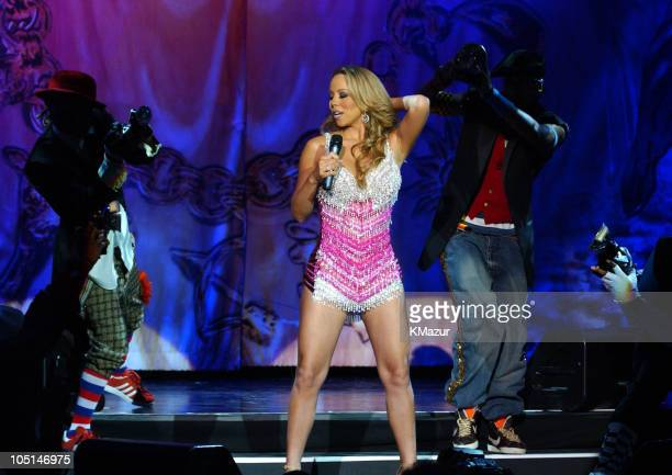Mariah Carey during Mariah Carey opens her Charmbracelet Tour 2003 in Las Vegas at The Colosseum at Caesars Palace in Las Vegas, Nevada, United...