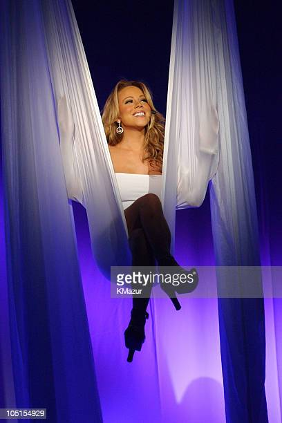 Mariah Carey during Mariah Carey opens her Charmbracelet Tour 2003 in Las Vegas at The Colosseum at Caesars Palace in Las Vegas Nevada United States