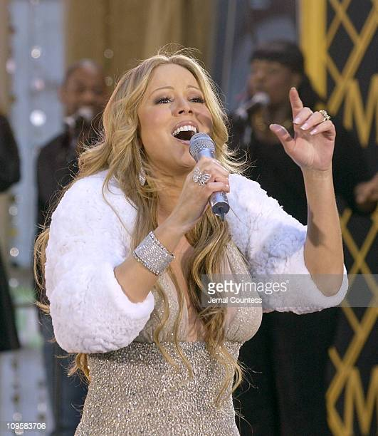 """Mariah Carey during Mariah Carey Performs on """"Good Morning America"""" - April 12, 2005 at Times Square in New York City, New York, United States."""
