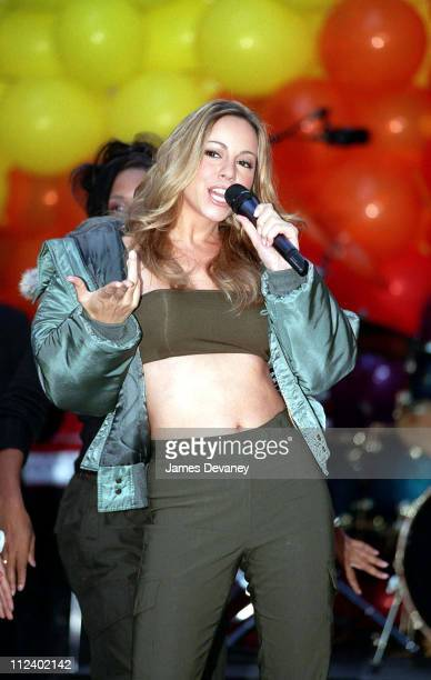 Mariah Carey during Mariah Carey Promotes Her New Album with a Performance on 'The Today Show' November 1 1999 at NBC Studios Rockefeller Center in...