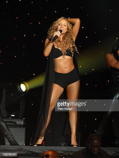 Mariah Carey during Mariah Carey The Adventures of Mimi Tour Opener in Miami at American Airlines Arena in Miami Florida United States
