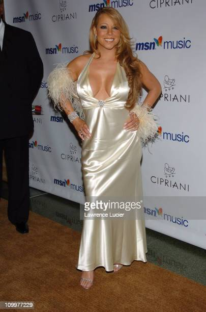 Mariah Carey during Mariah Carey's Album Release Party for The Emancipation of Mimi at Ciprianis 5th Avenue in New York City, New York, United States.