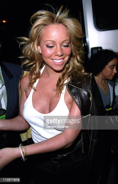 Mariah Carey during The 2001 VH1/Vogue Fashion Awards Arrivals at The Hammerstein Ballroom in New York City New York United States