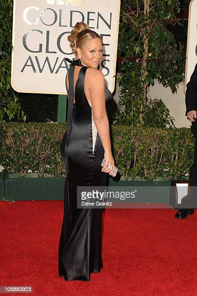 Mariah Carey during The 63rd Annual Golden Globe Awards Arrivals at Beverly Hilton Hotel in Beverly Hills California United States