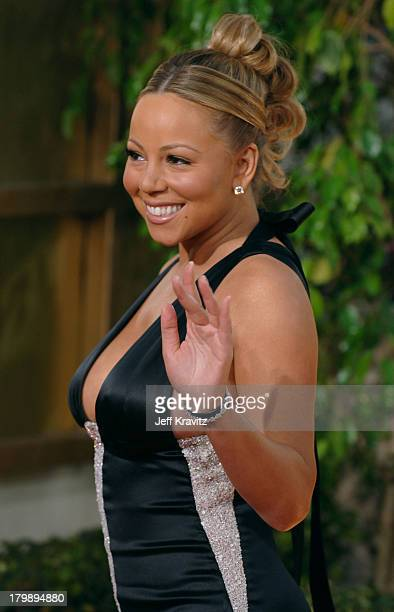 Mariah Carey during The 63rd Annual Golden Globe Awards Red Carpet at Beverly Hilton Hotel in Beverly Hills California United States