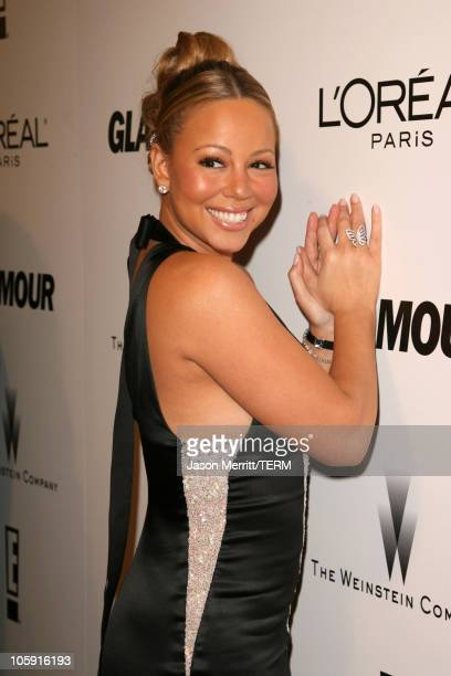 Mariah Carey during The Weinstein Company/Glamour 2006 Golden Globes After Party at Trader Vic's in Beverly Hilton Hotel California United States