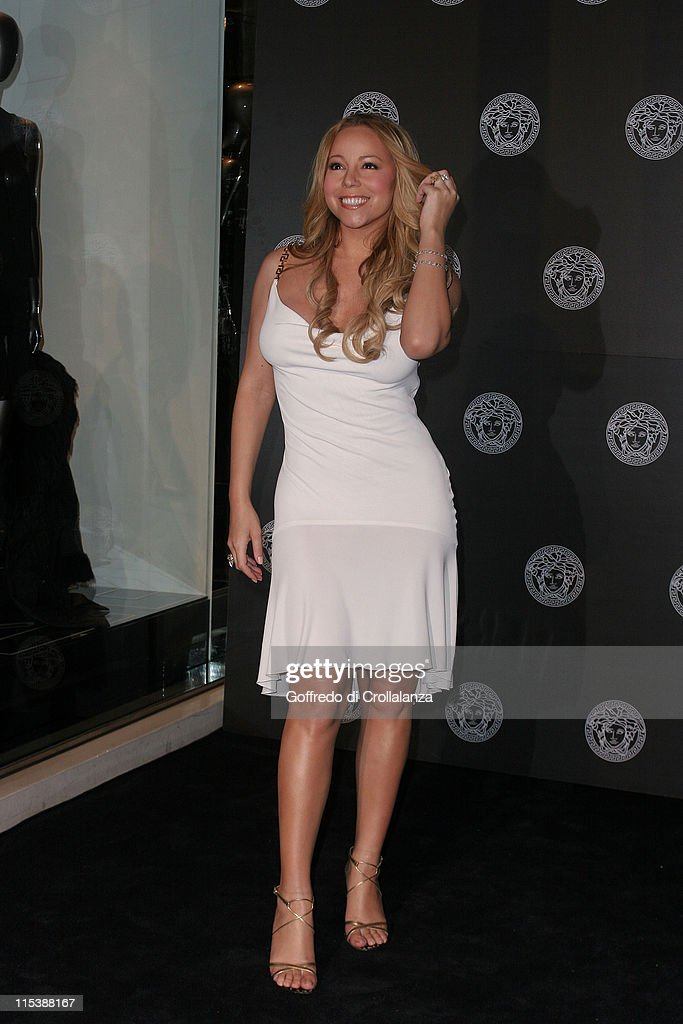 Mariah Carey during Versace Store Relaunch Party at Versace Sloane Street in London, Great Britain.