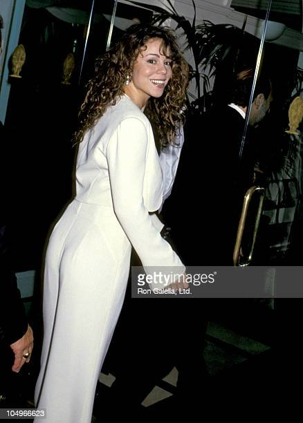 Mariah Carey during Wedding of Mariah Carey and Tommy Mottola at St Thomas Episcopal Church/Metropolitan Club in New York City NY United States