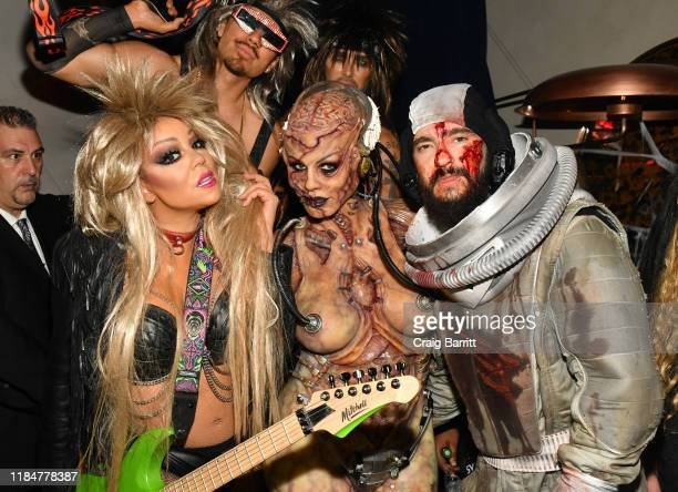 Mariah Carey, Heidi Klum and Tom Kaulitz attend Heidi Klum's 20th Annual Halloween Party presented by Amazon Prime Video and SVEDKA Vodka at...