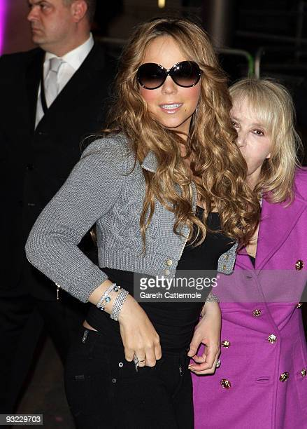 Mariah Carey helps turn on the Westfield Shopping Centre Christmas lights on November 19 2009 in London England