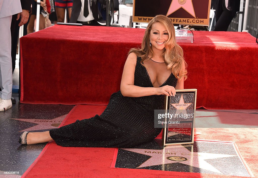 Mariah Carey Honored With Star On The Hollywood Walk Of Fame : News Photo