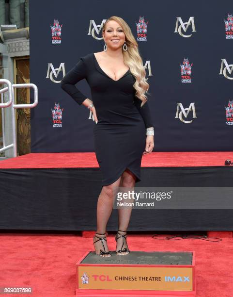 Mariah Carey is honored with a Hand and Footprint Ceremony at TCL Chinese Theatre on November 1 2017 in Hollywood California