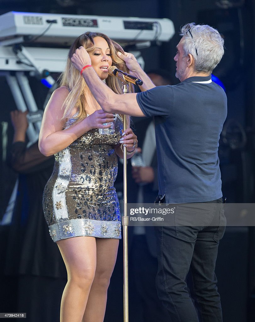 Mariah Carey is seen at the 'Jimmy Kimmel Live' show. on May 18, 2015 in Los Angeles, California.
