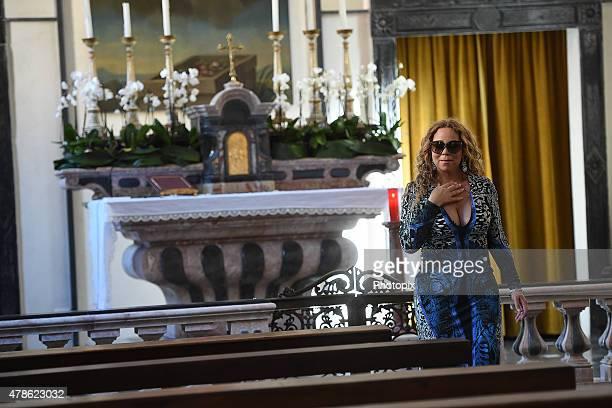 Mariah Carey is seen on June 26 2015 in Portofino