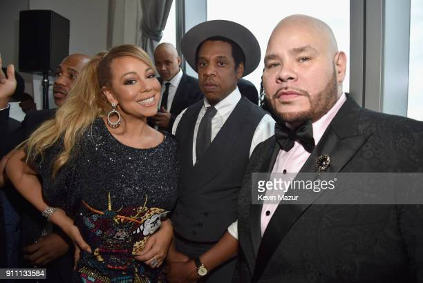 Mariah Carey JayZ and Fat Joe attend Roc Nation THE BRUNCH at One World Observatory on January 27 2018 in New York City