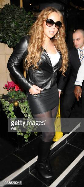 Mariah Carey leaves her hotel on November 13, 2009 in London, England.