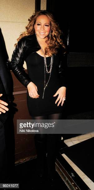 Mariah Carey leaving the Dorchester Hotel on November 19, 2009 in London, England.