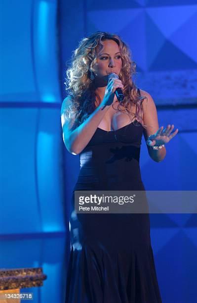 Mariah Carey performing during the BET Walk of Fame show Honoring Stevie Wonder