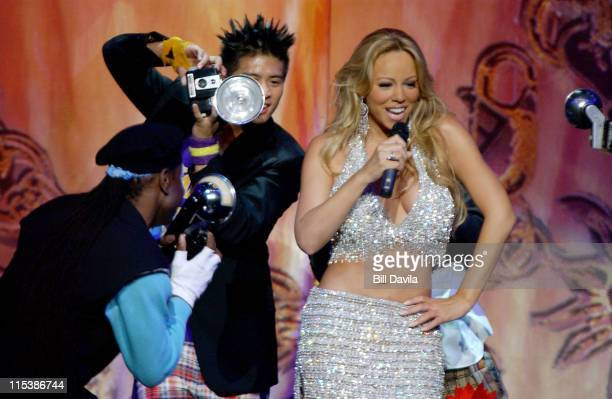 Mariah Carey performing her opening act during Mariah Carey Charm Bracelet Tour Concert at Radio City Music Hall in New York NY United States
